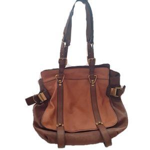 Leather Cognac Satchel